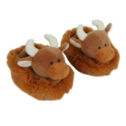 Jomanda Super Soft New Born Baby Booties with Highland Cow Faces