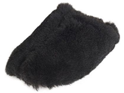 Ladies Genuine Sheepskin Fluffy Mule Slippers - Top