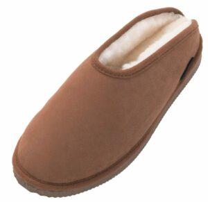 Ladies Genuine Sheepskin Slip On Mule Slippers