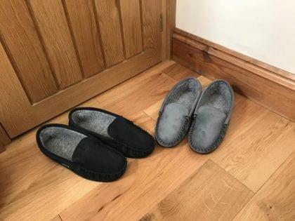 Mens Suede and Berber Fleece Loafers-196372