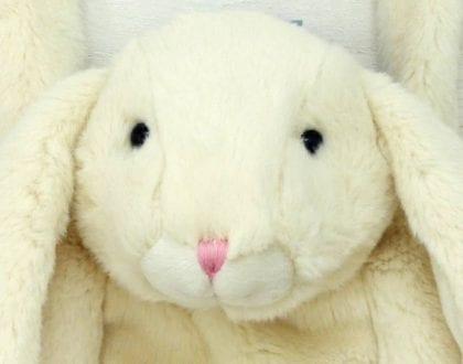 Jomanda Soft Cream Bunny Hand Muff - Lifestyle Close Face