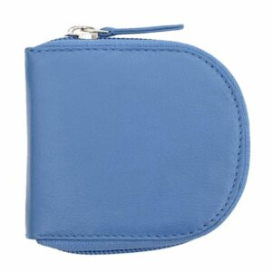 Soft Genuine Leather Zipped Coin Pouch