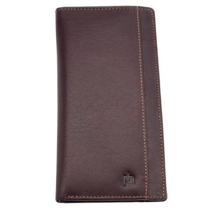 Mens Genuine Leather Long Jacket Wallet