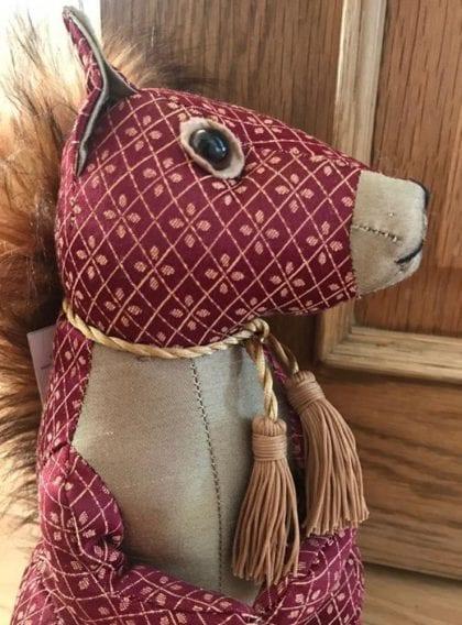 Dora Designs Red Squirrel Doorstop - Lifestyle