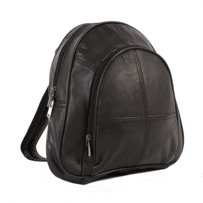 Ladies Genuine Leather Backpack with Security Pocket