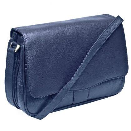 Ladies Luxury Leather Flap Over Handbag