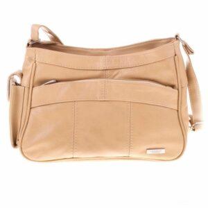 Ladies Genuine Leather Small Zipped Cross Body Handbag