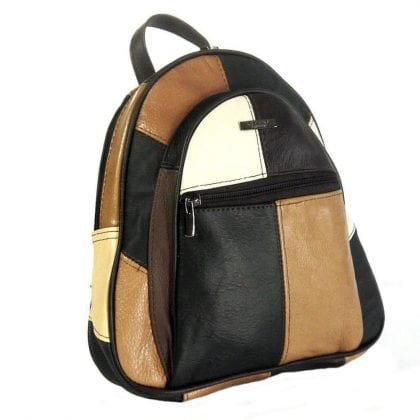 Ladies Genuine Leather Multicolour Backpack