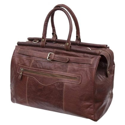 Luxury Genuine Leather Travel Bag Holdall