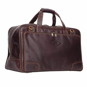 Unisex Luxury Genuine Leather Travel Weekender