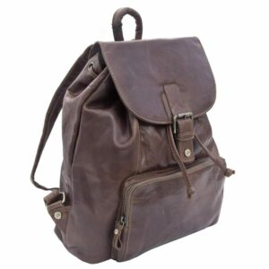 Unisex Rugged Genuine Leather Backpack