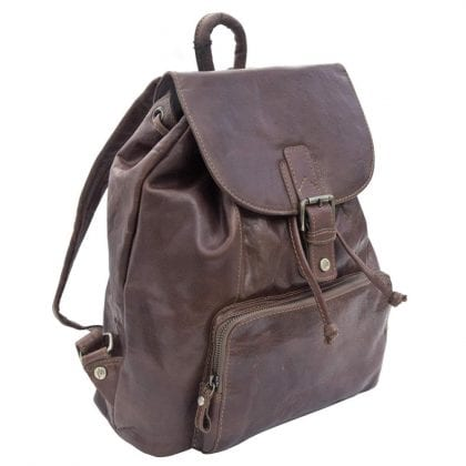 Unisex Rugged Genuine Leather Backpack