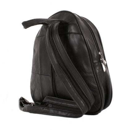 Ladies Genuine Leather Backpack with Security Pocket - Back