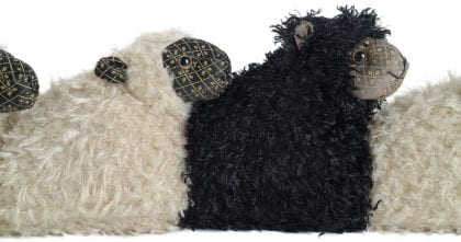 Dora Designs Black Sheep of the Family Draught Excluder - Close