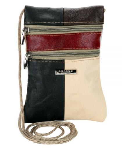 Ladies Genuine Leather Small Corded Pouch
