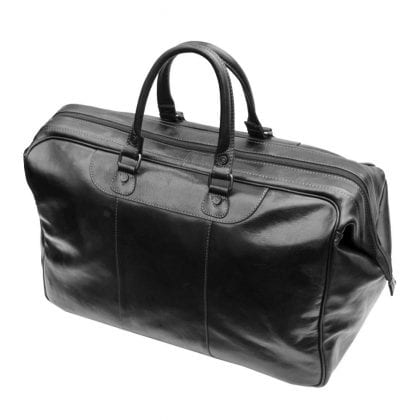 Luxury Designer Leather Gladstone Weekend Bag