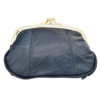 Ladies Leather Triple Frame Fastening Coin Purse