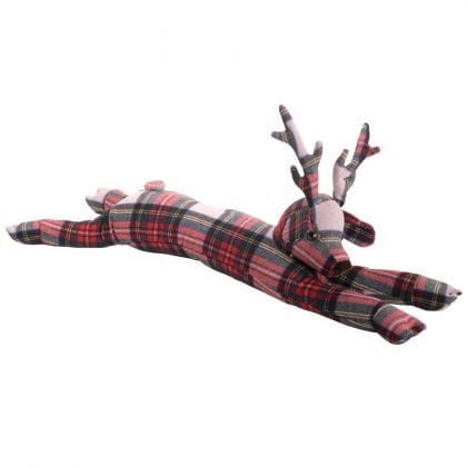 Dora Designs Plaid Stag Draught Excluder