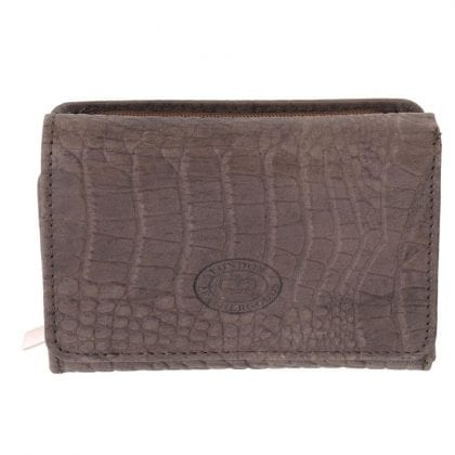 Ladies Genuine Leather Vintage Croc Purse