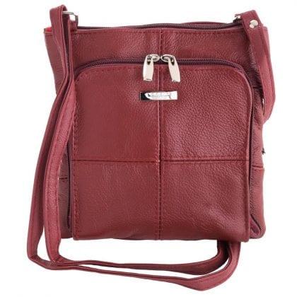 Ladies Small Genuine Leather Handbag with Organiser
