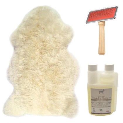 Genuine British Sheepskin Natural Ivory Starter / Gift Pack-0