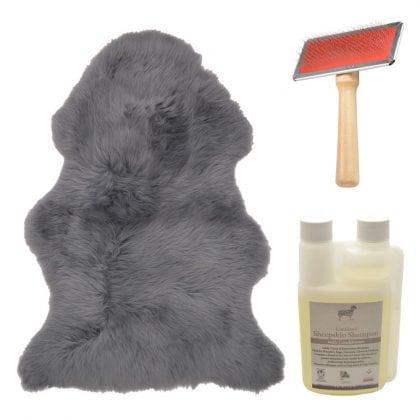 Genuine British Sheepskin Slate Grey Starter / Gift Pack-0