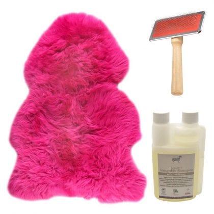 Genuine British Sheepskin Fuschia Pink Starter / Gift Pack-0