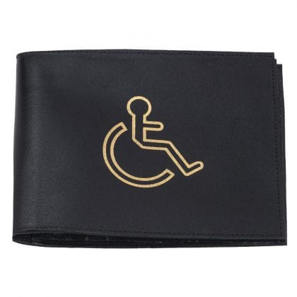 Genuine Leather Disabled Badge Holder