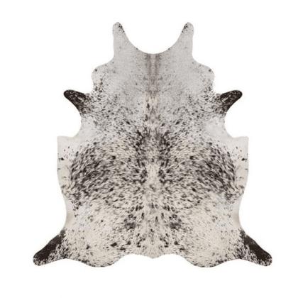 Genuine Black White Speckled Natural Cow Hides-0