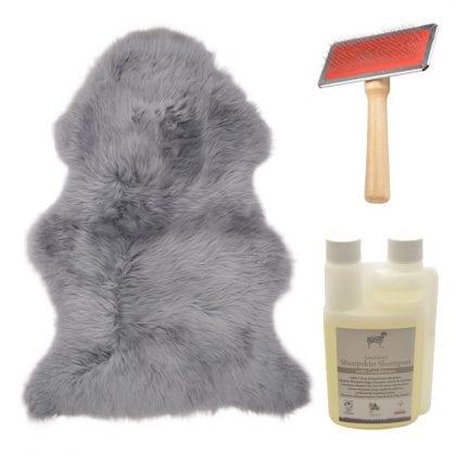 Genuine British Sheepskin Silver Grey Starter / Gift Pack-0