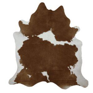 Genuine Brown White Natural Cow Hide-0