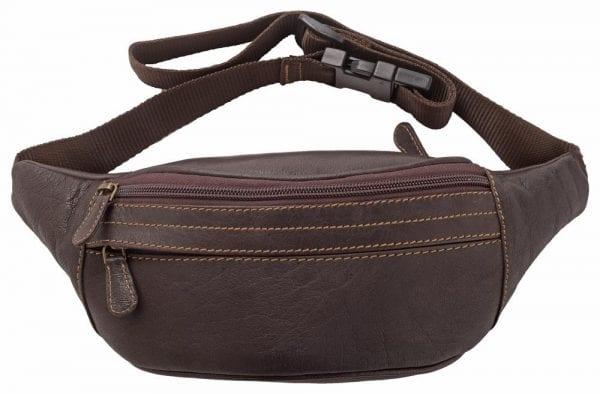 Soft Genuine Leather Multi Zip Waist Bag