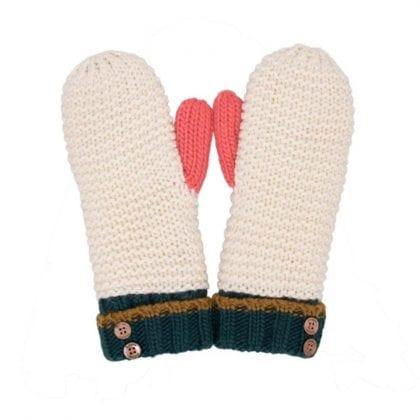 Ladies Super Soft Colour Block Mittens