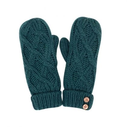 Ladies Super Soft Pattern Cable Mittens