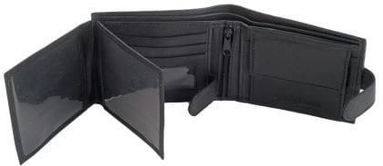 Mens Genuine Leather Organiser Wallet - Open