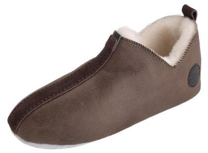 Ladies Suede Sole Sheepskin Bootee Slippers by Shepherd of Sweden - Top