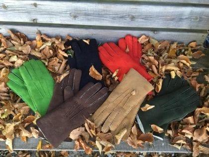 Ladies Hand Sewn Genuine Soft Real Lambskin Gloves - Lifestyle 1