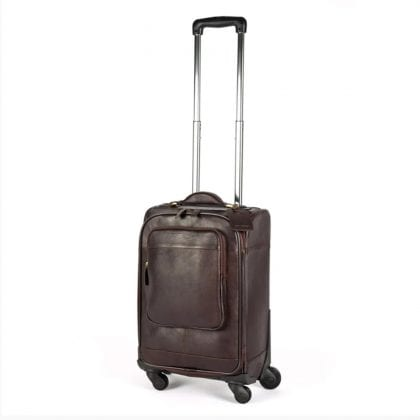 Genuine Leather Wheeled Flight Bag