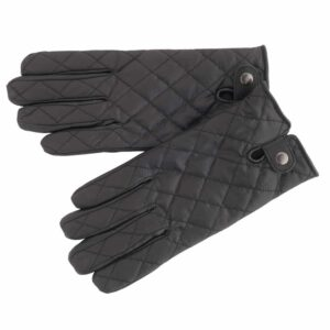 Mens Premium Leather Quilted Gloves