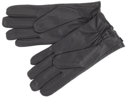 Mens Premium Leather Quilted Gloves - Palm