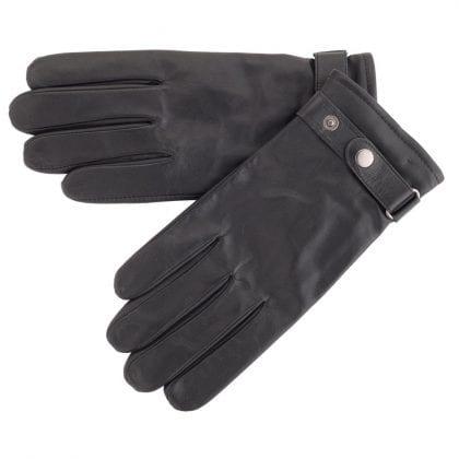 Mens Premium Leather Biker Style Gloves