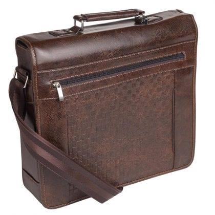 Mens Large Smooth Gloss Finish Shoulder Bag