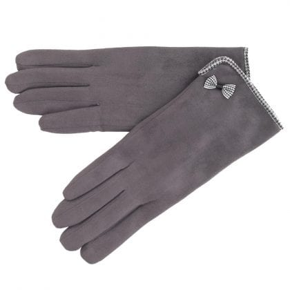 Ladies Soft Micro Suede Cold Weather Gloves-0