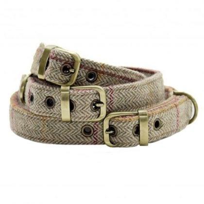 Genuine Tweed & Suede Dog Collars-0
