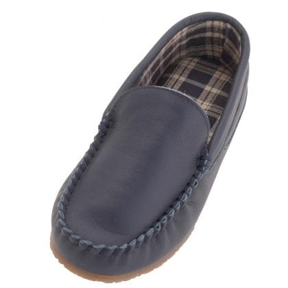Mens Fabric Lined Genuine Leather Loafers