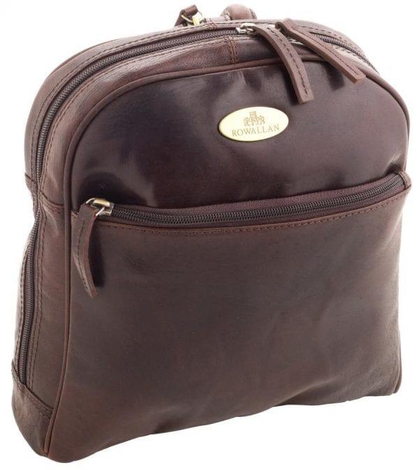 Ladies Round Top Leather Backpack by Rowallan