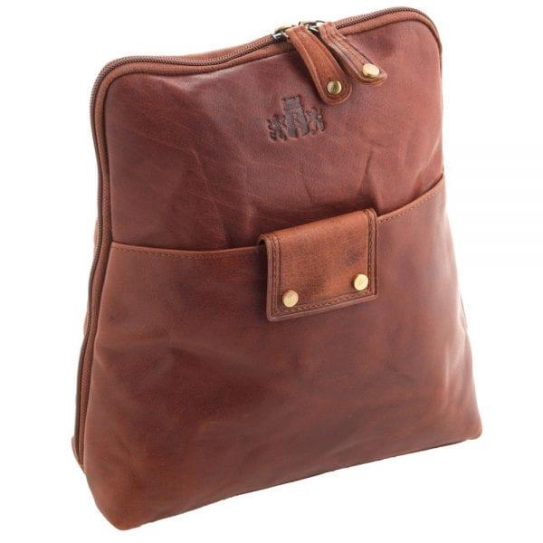 Ladies Wide Opening Luxury Leather Backpack by Rowallan