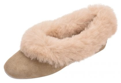 Ladies Sheepskin Lined Grecian Slippers-197886