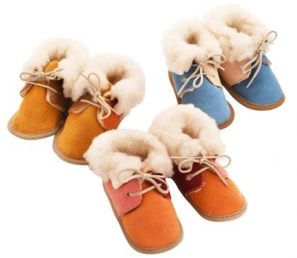 Deluxe Sheepskin Baby Bootees