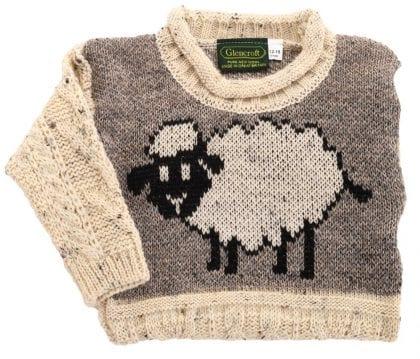 Childs Aran Sheep Jumper-205716